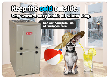 Keep the cold outside with a Bryant Furnace